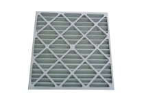 Pleated active carbon filter with paper frame