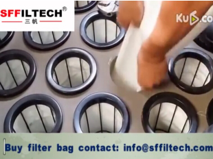 how to install filter bag